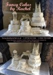 castles and carriage wedding cake