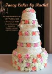 peach and white roses wedding cake - 1.jpg