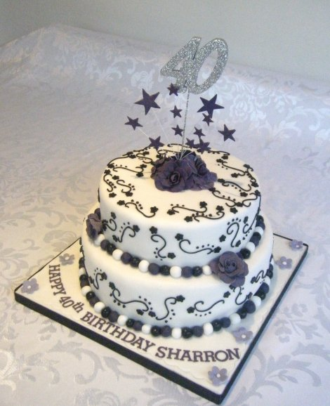 black and white cake fancy cakes by 1813