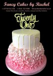 21st Pink ruffles white chocolate drip birthday cake - 1.jpg