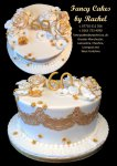 60th birthday cake gold - 1.jpg