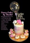 Deborah 18th birthday white chocolate drip, cupcakes and gold flake balloon - 1.jpg