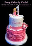 number 1 birthday cake with pink frills - 1.jpg