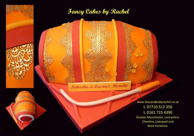 N Mehndi Cake : Mendhi drum 155167d8155b89.jpg