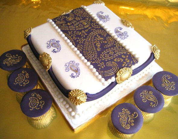 Mehndi Cake Table : Fancy cakes by rachel