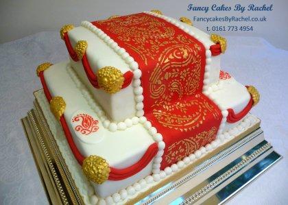 Mehndi Cushion Cake : Fancy cakes by rachel