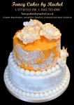 peach and lace anniversary cake - 1.jpg