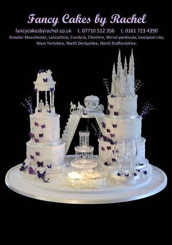 Castle Wedding Cake.Disney Castle Wedding Cake Fancy Cakes By Rachel